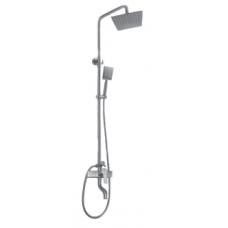 Душевая система KRF 4006 ТМ Кraft со смесителем, фигурный излив, квадратная лейка