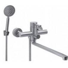 Смеситель для ванной комнаты KRF 4008-2 ТМ Кraft с длинным изливом и ручкой-рычагом