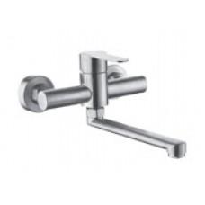 Смеситель для ванной комнаты KRF 4035 ТМ Кraft с длинным изливом и ручкой-лепестком