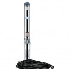 Насос центробежный 1.1кВт H 127(98)м Q 55(35)л/мин d 102мм 60м кабеля mid DONGYIN (778445)