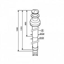 Bosch AZ 404 ?80/125 L=1350 мм, с ветрозащитой