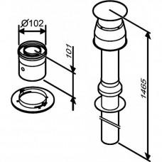 Bosch AZ 396 Коаксиальный вертикальный комплект, ?60/100